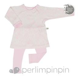 Perlimpinpin Perlimpinpin - Ensemble Tunique et Legging en Bambou/Bamboo Tunic & Legging, Coeurs/Hearts