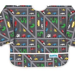Bumkins Bumkins - Bavoir Manches Longues/Sleeved Bib, Trafic/Traffic