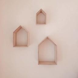 Ma Petite Maison Ma Petite Maison - Ensemble de 3 Maisons/Set of 3 Houses, Naturel/Natural