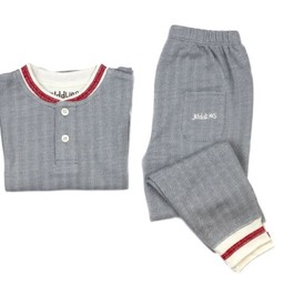 Juddlies Juddlies - Pyjama Cottage 2 Pièces/Cottage 2 Pieces Playsuit, Bois Gris/Driftwood Grey