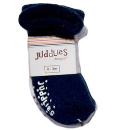 Juddlies Juddlies - Paquet de 2 Chaussettes pour Enfant/Pack of 2 Infant Socks, Marine et Blanc/Navy and White