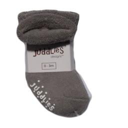 Juddlies Juddlies - Paquet de 2 Chaussettes pour Enfant/Pack of 2 Infant Socks, Blanc et Gris/White and Grey