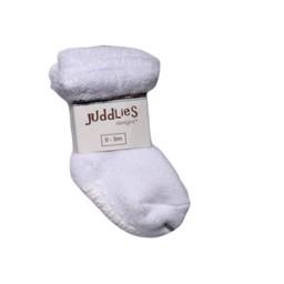Juddlies Juddlies - Paquet de 2 Chaussettes pour Enfant/Pack of 2 Infant Socks, Blanc et Blanc/White and White