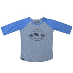 L&P L&P - Chandail Manches 3/4 Cost To Coast/Cost To Cost 3/4 Sleeves Shirt, Gris et Bleu Acier/Gray and Blue Steel