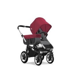 Bugaboo Bugaboo, Donkey2 - Poussette Simple/Mono Stroller, Gris et Rouge/Grey and Red