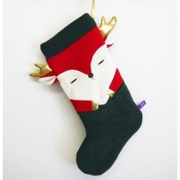 Velvet Moustache Velvet Moustache - Bas de Noël/Christmas Stocking, Vert et Rouge/Green and Red