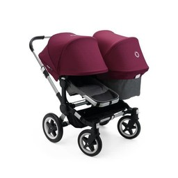 Bugaboo Bugaboo Donkey2 - Extension Duo Complète/Duo Extension Set Complete, Gris et Rouge/Grey and Red