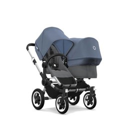 Bugaboo Bugaboo Donkey2 - Extension Duo Complète/Duo Extension Set Complete, Blue Mélange/Sky Blue