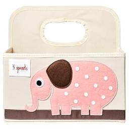 3 sprouts 3 Sprouts - Panier pour Couches/Diaper Caddy, Éléphant Rose/Pink Elephant