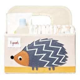 3 sprouts 3 Sprouts - Panier pour Couches/Diaper Caddy, Hérisson Gris/Hedgehog Gray