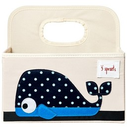 3 sprouts 3 Sprouts - Panier pour Couches/Diaper Caddy, Baleine Bleu/Blue Whale