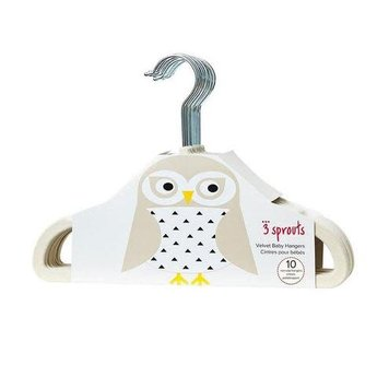 3 sprouts 3 Sprouts - Cintres pour Enfant/Kids Hanger, Hibou Beige/Beige Owl