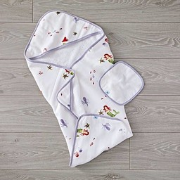 Little Unicorn Little Unicorn - Sortie de Bain et Gant de Toilette/Cotton Hooded Towel and Wash Cloth, Mermaid