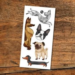 Pico Tatouages Temporaires PICO- Tatouage Temporaire/Temporary Tattoo, Les Chiens/Dogs