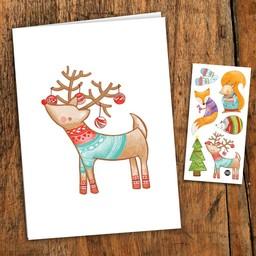 Pico Tatouages Temporaires PICO- Carte de Souhait/Greeting Card, Noël/ Christmas