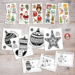 Pico Tatouages Temporaires Pico Tatoo - Super Ensemble de Noël/Cool Christmas Set