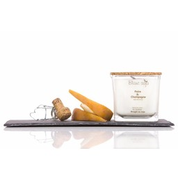BlancSoja Blanc Soja - Bougie de Soja Poire et Champagne/Pears and Champagne Soja Candle, 420ml