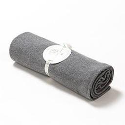 """Bouton Jaune Couverture en Coton Organique 42po x 42po de Bouton Jaune/Bouton Jaune 42"""" x 42"""" Organic Cotton Blanket, Gris Chambré/Grey Chambered"""