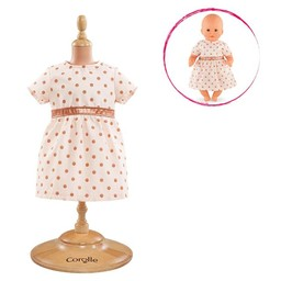 Corolle Corolle - Robe Dorée Rose pour Poupée/Pink Gold Dress for Baby Doll