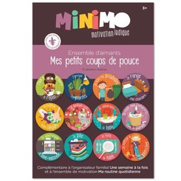 Minimo Minimo - Ensemble D'aimants Mes Petits Coups de Pouce/Magnet Set My Little Helper
