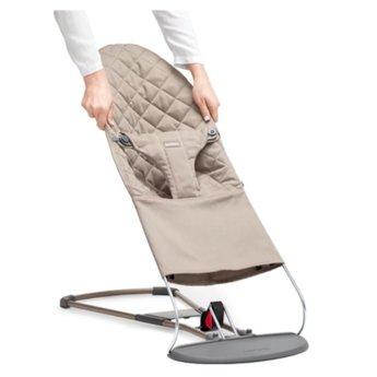 BabyBjörn BabyBjörn - Tissu pour Siège Bouncer Bliss/Bouncer Bliss Fabric Seat, Gris Sable/Sand Grey