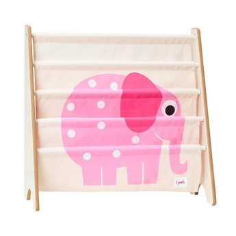 3 sprouts 3 Sprouts - Support à Livres/Book Rack, Éléphant Rose/Pink Elephant