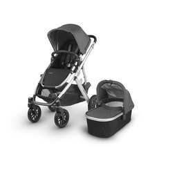 UPPAbaby UPPAbaby, Vista 2018 - Poussette Base Aluminium/Stroller Aluminium Frame, Cuir Noir/Black Leather