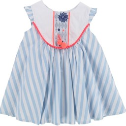 Billieblush BillieBlush - Robe Blanc Bleu/White Blue Dress