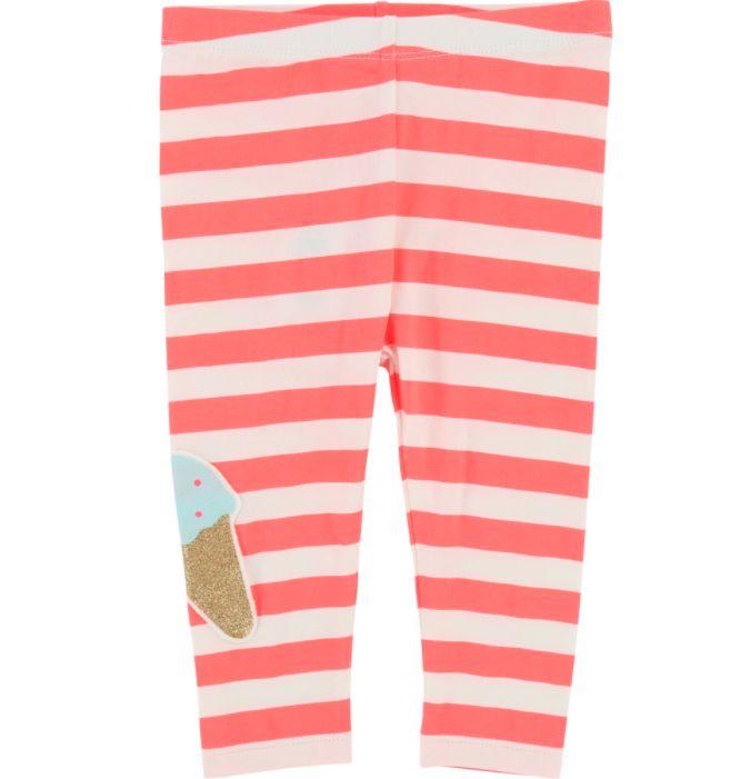 Billieblush BillieBlush - Legging Écru Rose Ecru Pink Legging - CHARLOTTE  ET CHARLIE ed7aaa0a1295