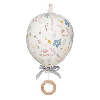 Cam Cam Copenhagen US Ltd Cam Cam Copenhagen - Mobile Musicale Ballon/Balloon Music Mobile, Feuilles Pressées/Pressed Leaves