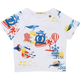 Billybandit BillyBandit - T-Shirt à Motifs/Ornements T-Shirt, Blanc/White