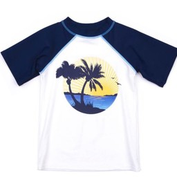 Appaman Appaman - Chandail de Piscine Rashguard/Rashguard Pool Sweater, Bleu Marin/Navy Blue