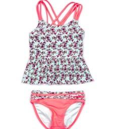 Appaman Appaman - Maillot de Bain Tankini Samara/Samara Swimsuit Tankini Set, Fleurit Zinnea/Zinnea Blooms