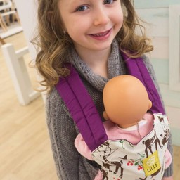 Lillé Baby Lillé baby - Porte-poupée/Doll Carrier, Cerfs et Rose/Deers and Pink