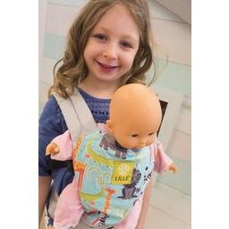 Lillé Baby Lillé baby - Porte-poupée/Doll Carrier, Lion Bleu et Gris/Blue Lion and Grey