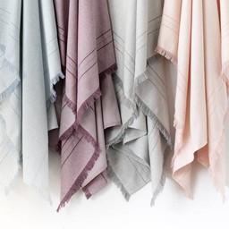 Bouton Jaune Bouton Jaune - Couverture en Lainage Tissé/Woven Wool Blanket, Gris/Grey