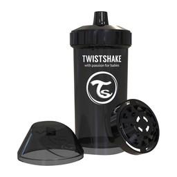 Twistshake Twistshake - Gobelet pour Enfant/Kid Sippy Cup, Noir/Black