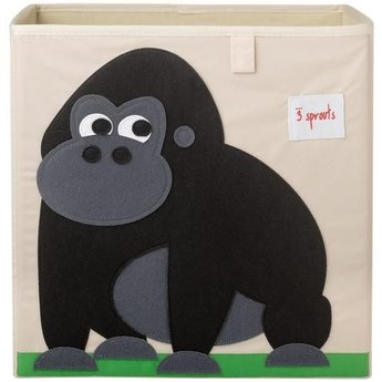 3 sprouts 3 Sprouts - Boîte de Rangement/Storage Box, Gorille/Gorilla