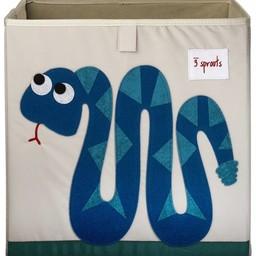 3 sprouts 3 Sprouts - Boîte de Rangement/Storage Box, Serpent Bleu/Blue Snake