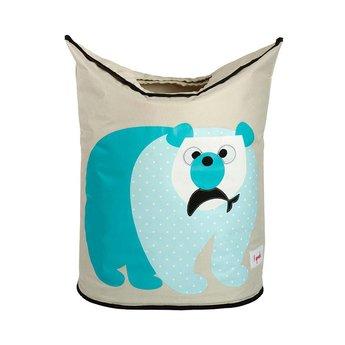 3 sprouts 3 Sprouts - Panier à Linge/Laundry Hamper, Ours Polaire Bleu/Blue Polar Bear