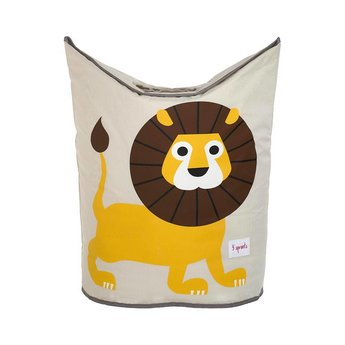 3 sprouts 3 Sprouts - Panier à Linge/Laundry Hamper, Lion Jaune/Yellow Lion