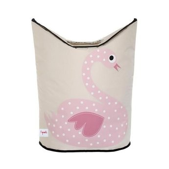 3 sprouts 3 Sprouts - Panier à Linge/Laundry Hamper, Cygne Rose/Pink Swan