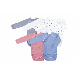 Petit Bateau Petit Bateau - Paquet de 5 Caches-Couches/Pack of 5 Rompers, Couleurs Assorties/Assorted Colors