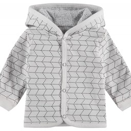 Noppies Noppies - Cardigan Réversible Kamin/Reversible Kamin Cardigan, Gris/Grey