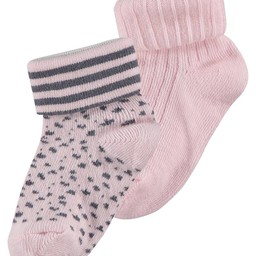 Noppies Noppies - Bas Karin Paquet de 2/Karin Socks 2 Pack , Rose Pâle/Light Pink