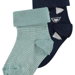 Noppies Noppies - Bas Keulen Paquet de 2/Keulen Socks 2 Pack , Bleu Foncé/Dark Blue