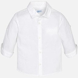 Mayoral Mayoral - Chemise en Lin/Linen Shirt, Blanc/White