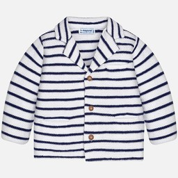 Mayoral Mayoral - Veste en Tricot/Knit Jacket, Rayé Azur/Azur Stripe