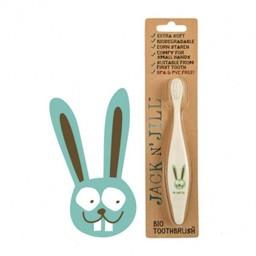 Jack&Jill Brosse à Dents Lapin Biodégradable/Bio Toothbrush Bunny Biodegradable