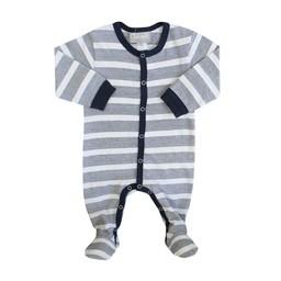 Coccoli Coccoli - Pyjama à Pattes/Footie, Rayé Marine et Blanc/Navy White Striped